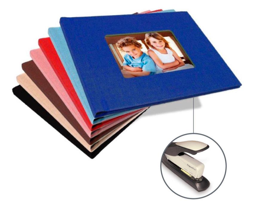 StapleBook pevné desky s okénkem